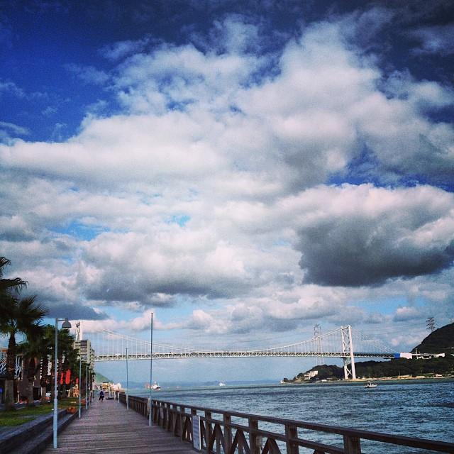 #イマソラ #空 #雲 #sea #海 #like #橋 #関門海峡