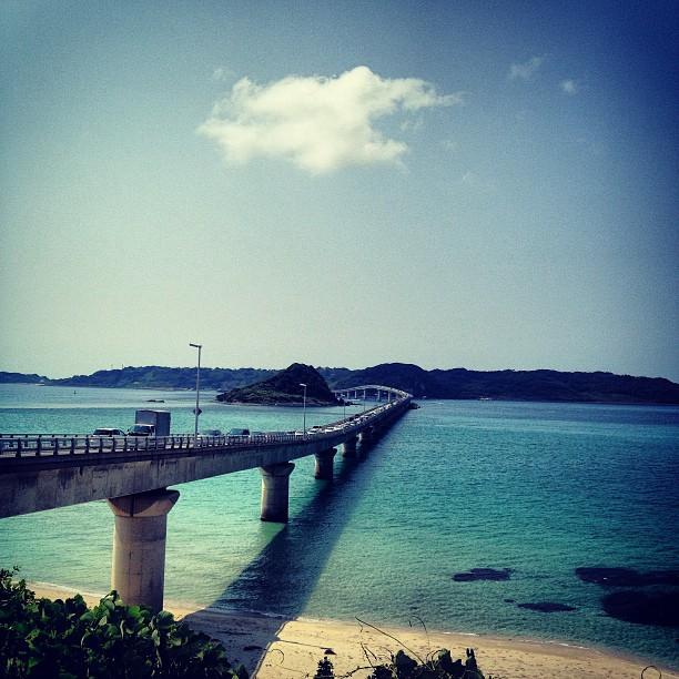 #橋 #海 #角島