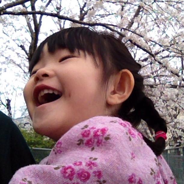 娘も大喜び。